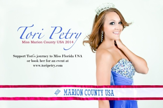 Tori wins Miss Marion County USA