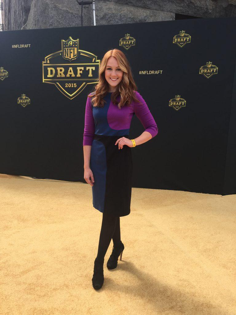 On the 2015 NFL Draft gold carpet