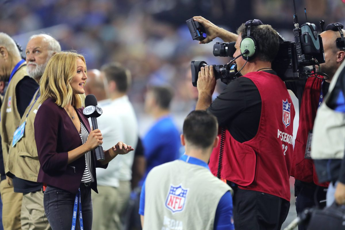 Tori appears on NFL Network as preseason sideline reporter