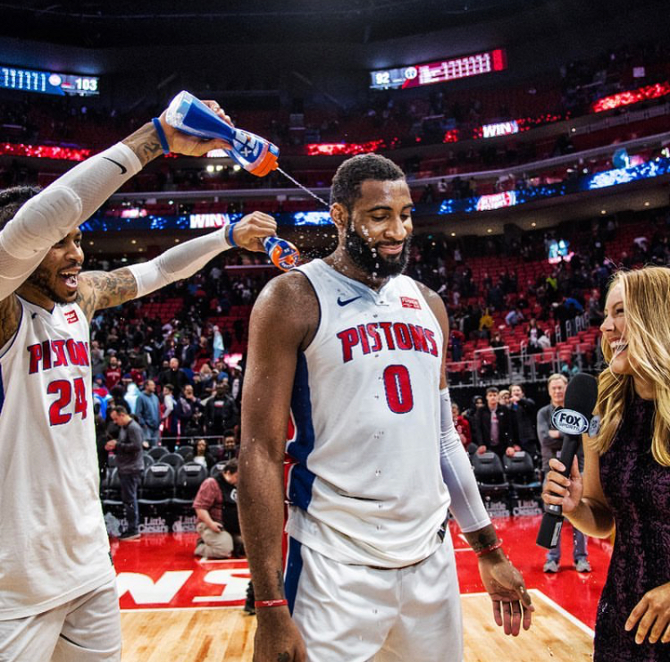Tori joins Detroit Pistons broadcast