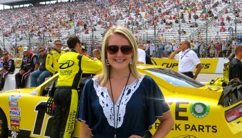 Working for ESPN at New Hampshire Motor Speedway