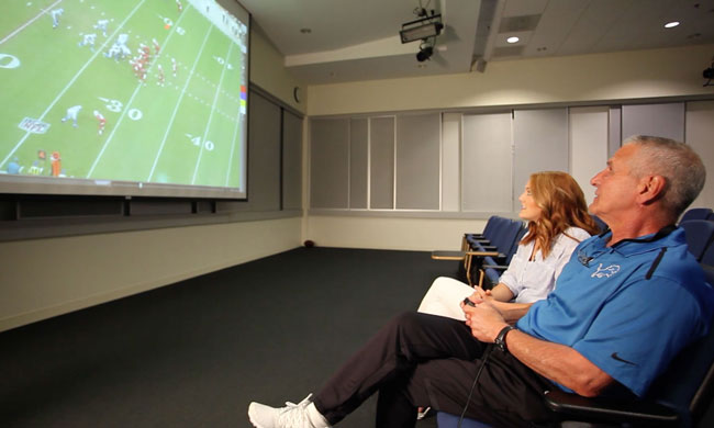 In the film room