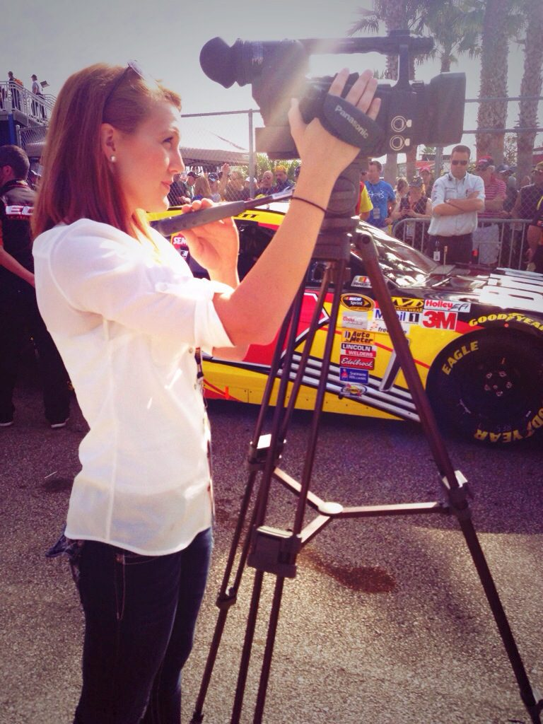 Working at Daytona International Speedway for the 2014 Daytona 500