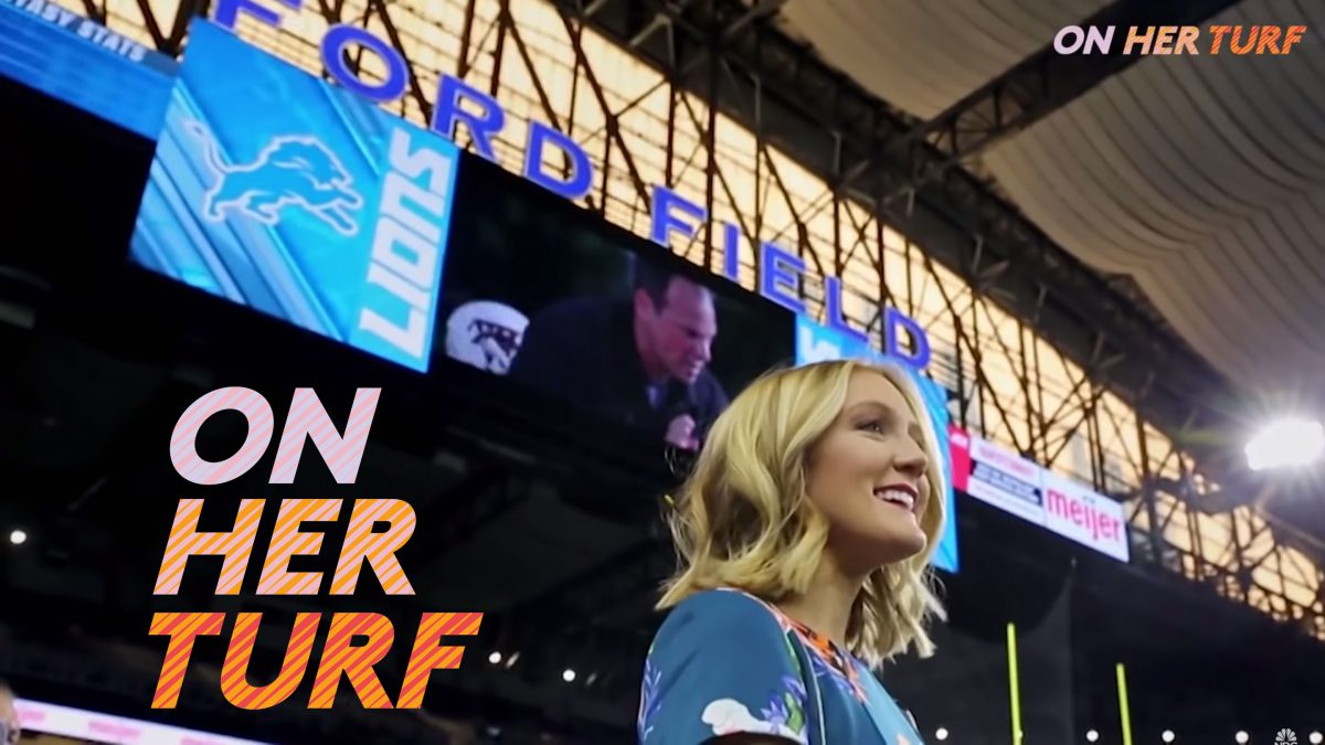 Tori featured on Sunday Night Football's On Her Turf series