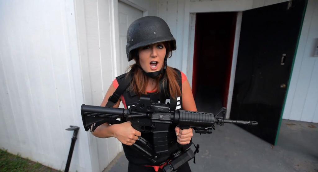 Tori Petry films a story on the Leesburg SWAT team
