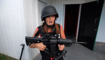 Tori Petry films a story on the Leesburg SWAT team