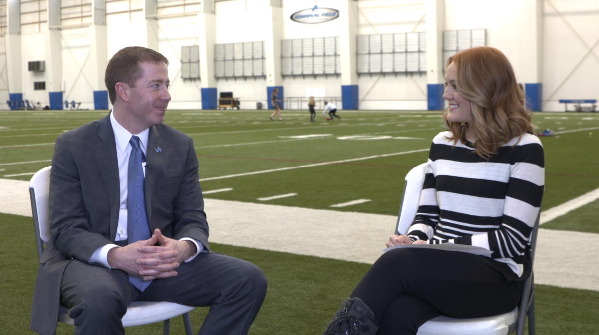 Sitting down with new Lions GM Bob Quinn on his first day on the job