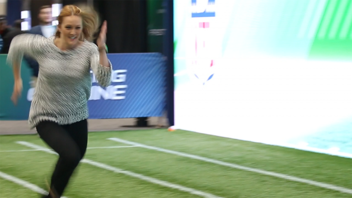 Tori runs viral 40-yard dash in heels at the combine