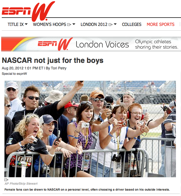 espnW: NASCAR not just for the boys