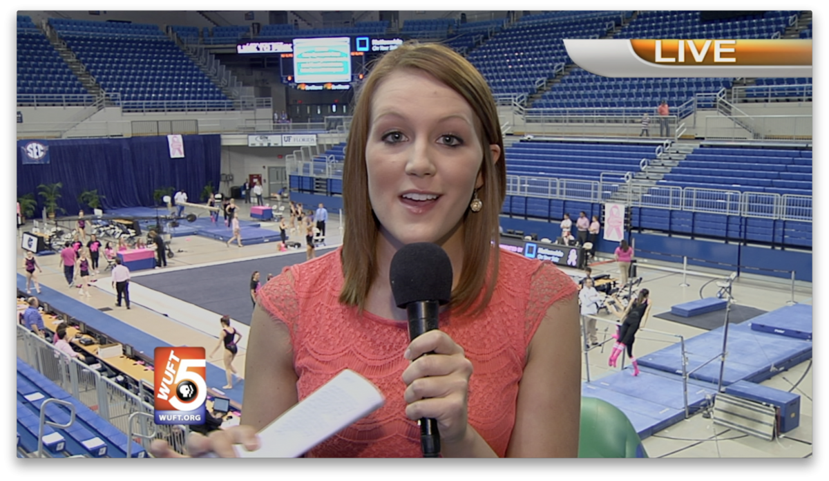 Gymnastics vs. Auburn Live Shot for WUFT-TV