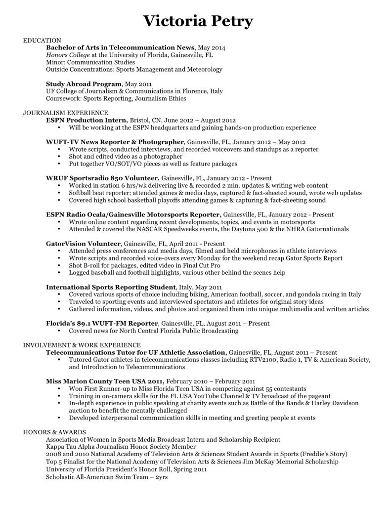Website Resume