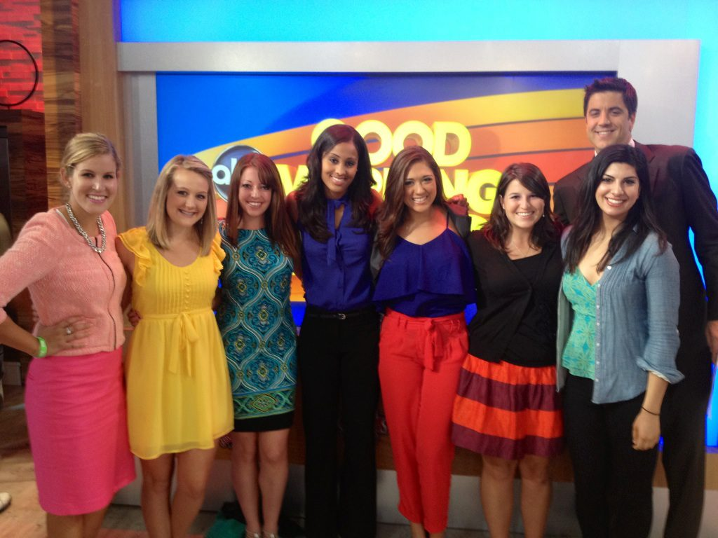 Meeting Josh Elliott on a visit to Good Morning America during ESPN internship
